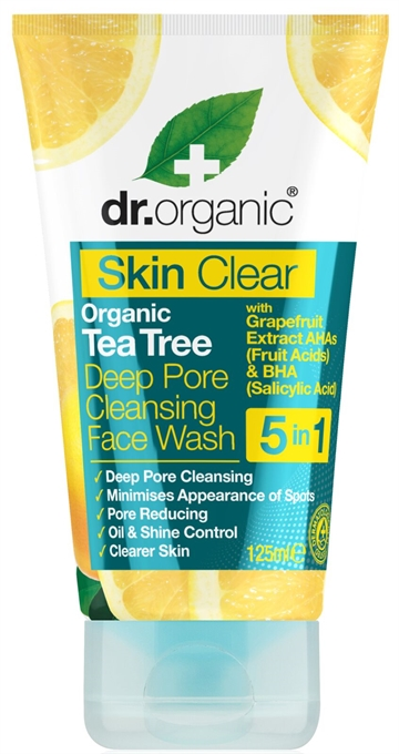 Dr. Organic, Skin Clear Deep Pore Cleansing Face Wash (125 ml.)