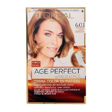 Dauerfärbung Excellence Age Perfect L'Oreal Expert Professionnel Helles goldkastanienbraun