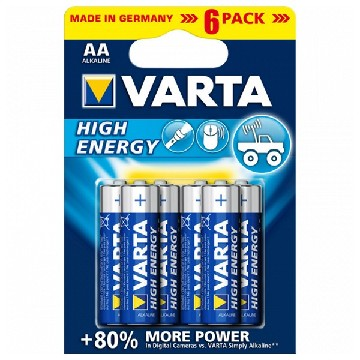 Alkline-Batterie Varta 4906 AA 1,5 V AA High Energy (6 pcs) Blau
