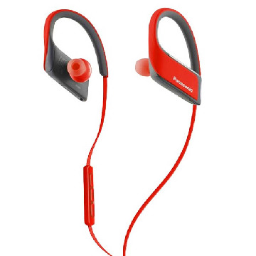 Bluetooth Sports Headset mit Mikrofon Panasonic RP-BTS30E Rot
