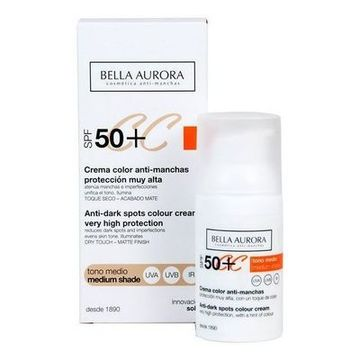 Anti-Fleckencreme Cc Cream Bella Aurora Mittlerer ton 30 ml