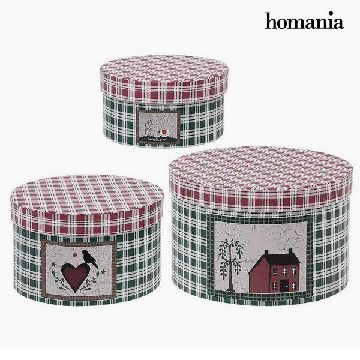 Dekorative Box Homania 7611 (3 uds) Karton