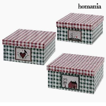 Dekorative Box Homania 7635 (3 uds) Karton
