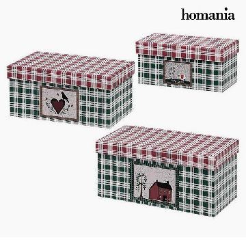 Dekorative Box Homania 7772 (3 uds) Karton