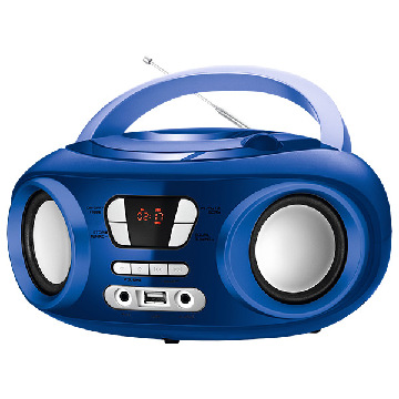 "Radio/CD Bluetooth + mp3 9"" BRIGMTON W-501 USB Blau"