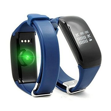"Activity-Armband BRIGMTON Bsport 14 0,66"" Bluetooth 4.0 Blau"