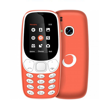 "Handy BRIGMTON Bluetooth Dual SIM Micro SD 1.7"" Orange Rechargeable lithium battery"