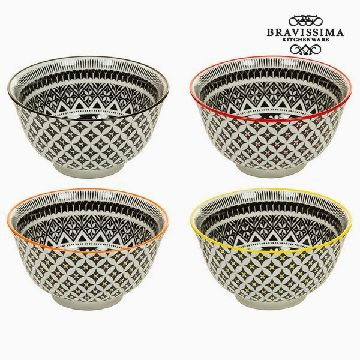 Set of bowls Porzellan Schwarz (4 pcs) - Queen Kitchen Kollektion by Bravissima Kitchen