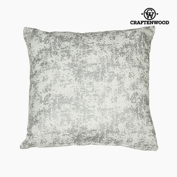 Puff Silber (90 x 90 x 25 cm) by Craftenwood