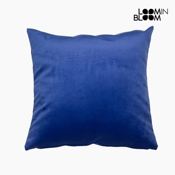 Kissen Polyester Blau (45 x 45 x 10 cm) by Loom In Bloom