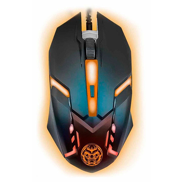 Gaming Maus iggual IGG315828 LED Schwarz Orange