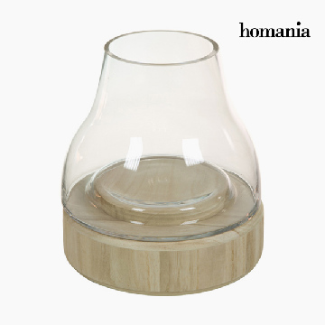 Kerzenschale Glas Holz - Pure Crystal Deco Kollektion by Homania