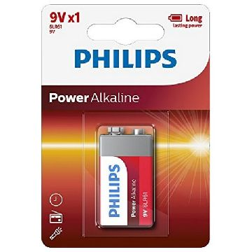 Alkline-Batterie Philips 6LR61 9V