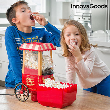InnovaGoods Sweet & Pop Times Popcornmaschine 1200W Rot
