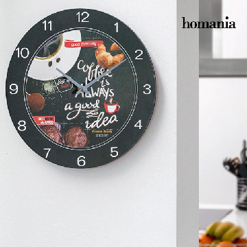 Food Homania Wanduhr