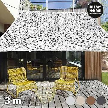 Oh My Home Ambiance Camouflage Viereck Sonnensegel (3 Meter)
