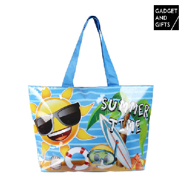 Gadget and Gifts Summer Time Emojis Strandtasche