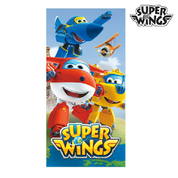 Super Wings blaues Strandtuch
