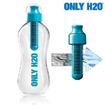 Only H2O Flasche mit Kohlefilter