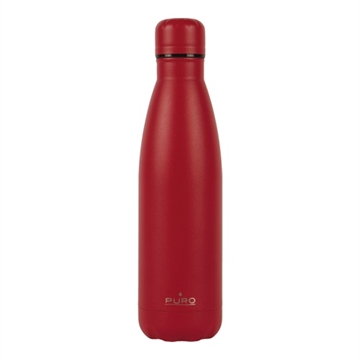 Puro, Icon Flasche, 500 ml, Soft Touch, rot