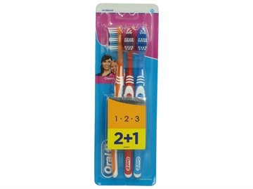 Oral-B Toothbrush 2's + 1's 1 2 3 Medium