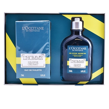 L'Occitane Homme Cologne Cedrat Eau De Toilette Spray 75ml Giftset