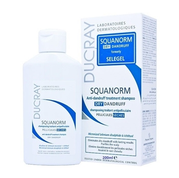 Ducray Squanorm Anti-Dandruff Treatment Shampoo 200ml Oily