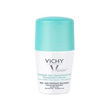 Vichy 48Hr AntiPerspirant RollOn 50ml Sensitive Skin  Alcohol Free