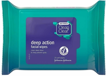 Clean & Clear Deep Action Wipes 25'