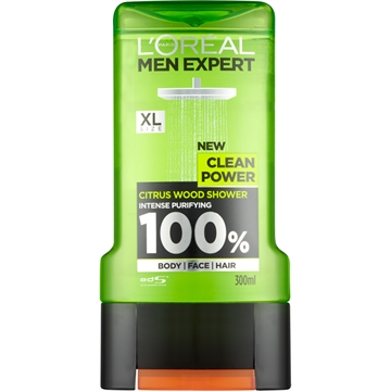 L'ORÉAL MEN EXPERT SHOWER GEL CLEAN POWER 300ML