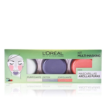 L'Oreal Skin Perfect Facial Mask 3 X 10 ml  Purifying, Detox And Exfoliant