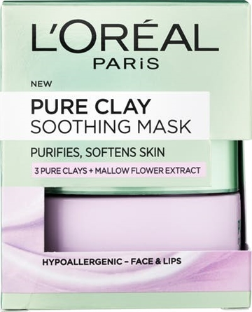 L'Oréal Paris Pure Clay Soothing Mask Puurple 50 ml