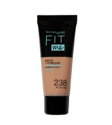 Maybelline Fit Me Foundation 238 Rich Tan Tube 30ml