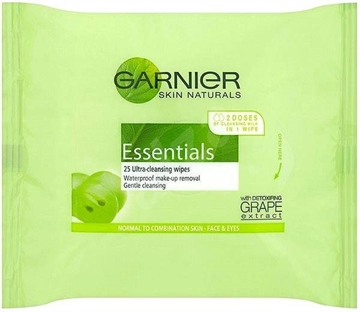 Garnier Simply Essentials Wipes 25 Pack