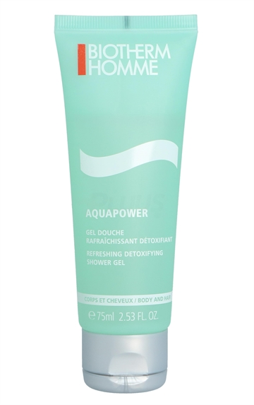Biotherm Homme Aquapower Shower Gel 75ml Body And Hair - Refreshing/Detoxifying
