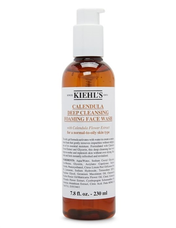 Kiehls Calendula Deep Cleansing Foaming Face Wash 230ml For A Normal-To-Oily Skin Type
