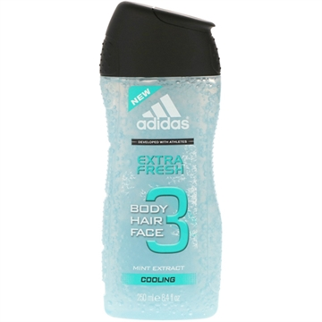 Adidas Dusch 250ml 3in1 Extra Fresh