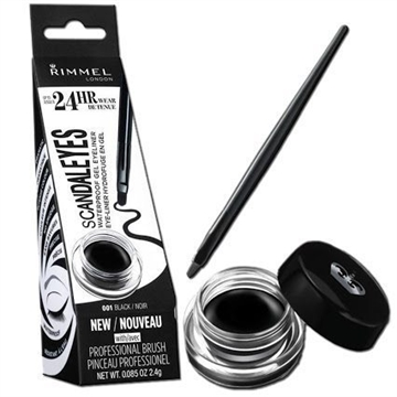 Rimmel Scandaleyes Waterproof Gel Eye Liner 2,4Gr 001 Black
