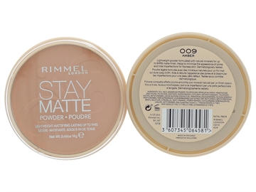 Rimmel Stay Matte Long Lasting Pressed Powder 14gr 009 Amber