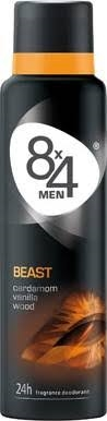 8x4 Deospray 150ml Beast for Men