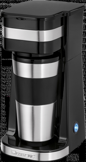 Clatronic Ka 3733 Coffee Maker Stainless Steel, Black Cup Volume