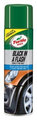 Turtle Wax Black In A Flash Trim&Tyre Wax 500ml