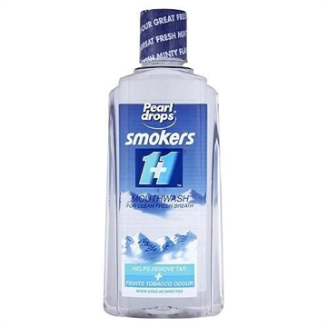 Pearldrops Mouthwash Smokers Clear 400ml