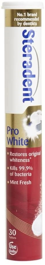 Steradent Pro White Tablets 30'S