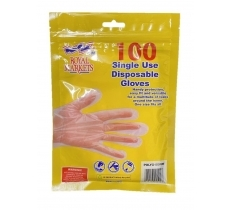 Royal Markets Pe Disposable Gloves 100'