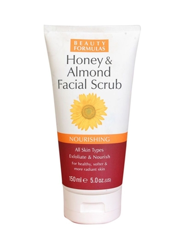 Beauty Formulas Face Scrub Honey & Almond 150ml