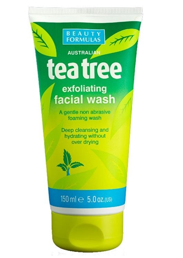 Beauty Formulas Exfoliating Face Wash Tea Tree 150ml