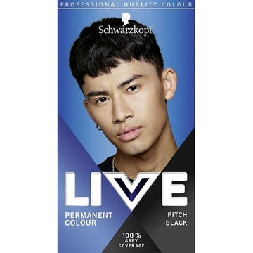 Schwarzkopf Live Hair Dye Permanent Hair Colour Men Pitch Black 099