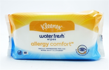 Kleenex Water Fresh Allergy Comfort Wipes 40'