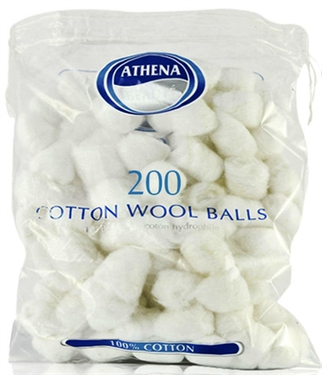 Athena Cotton Balls White 200'
